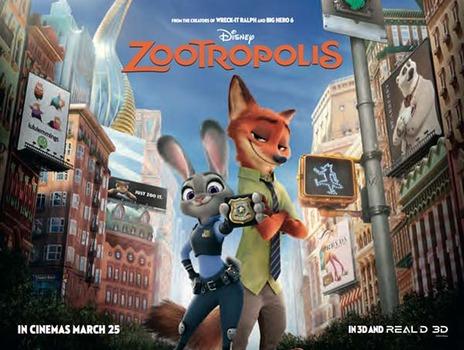 Zootropolis (AKA Zootopia) (2016, dir. Byron Howard & RichMoore)