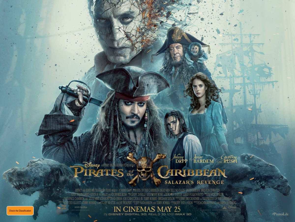 Pirates of the Caribbean: Salazar's Revenge (AKA Pirates of the Caribbean: Dead Men Tell No Tales) (2017, dir. Joachim Ronning & Espen Sandberg)