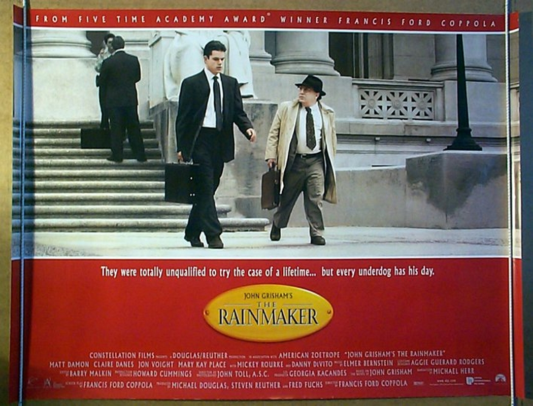 The Rainmaker [AKA John Grisham's The Rainmaker] (1997, dir. Francis Ford Coppola)