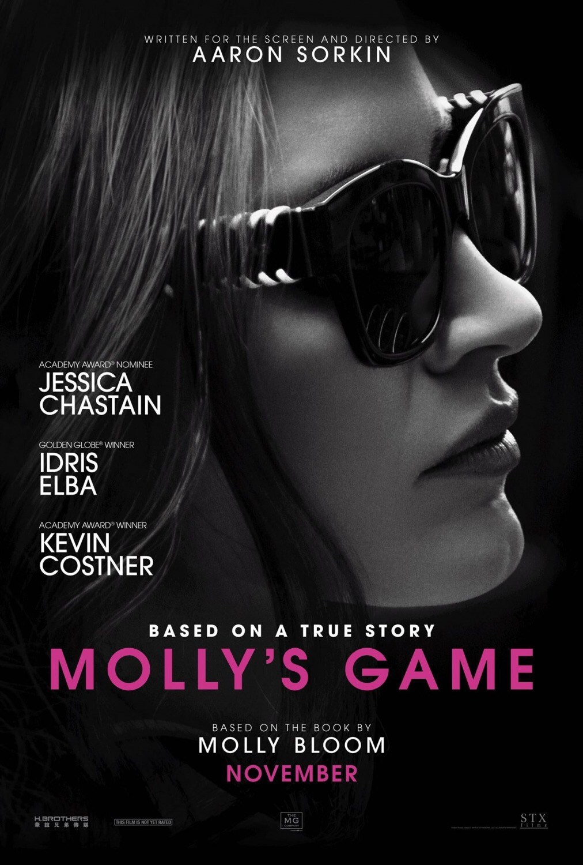 Molly's Game (2017, Dir AaronSorkin)