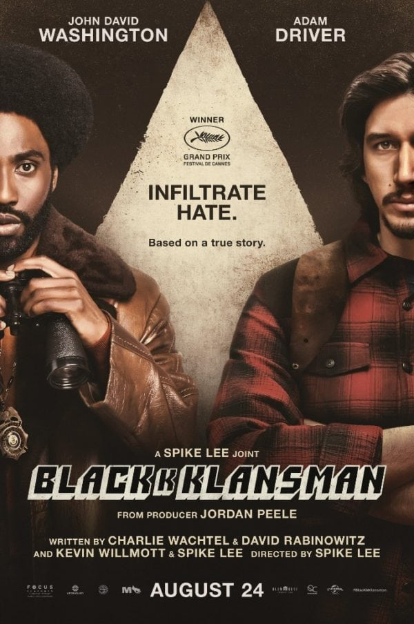 BlacKkKlansman (2018, dir. Spike Lee)