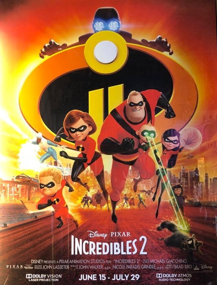 Incredibles 2 (2018, dir. Brad Bird)