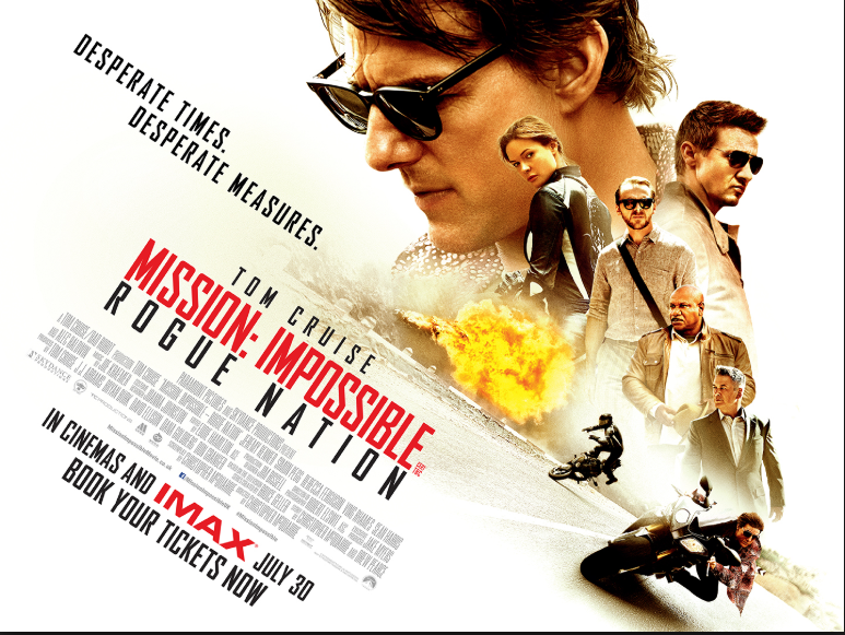 Mission: Impossible: Rogue Nation (2015, dir. ChristopherMcQuarrie)