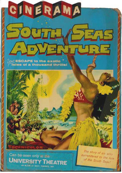 South Seas Adventure [AKA Cinerama's South Seas Adventure] (1958, dir. Carl Dudley, Richard Goldstone, Francis D Lyon, Walter Thompson, and BasilWrangell)