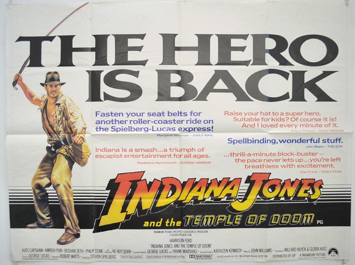 Indiana Jones and the Temple of Doom (1984, dir. StevenSpielberg)