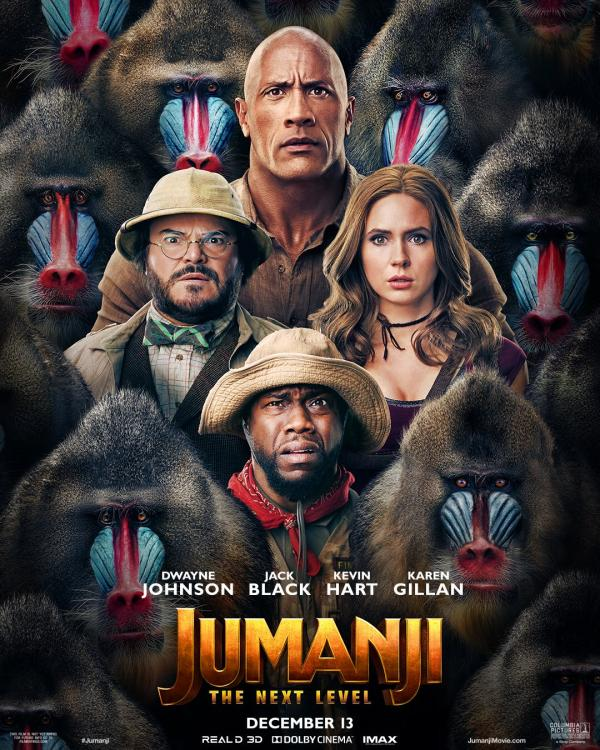 Jumanji: The Next Level (2019, dir. Jake Kasdan)