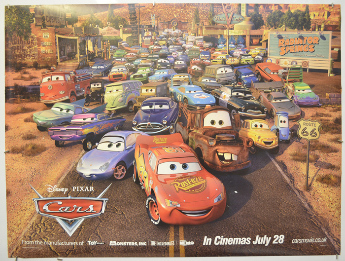 Cars (2006, dir. John Lasseter [and Joe Ranft])