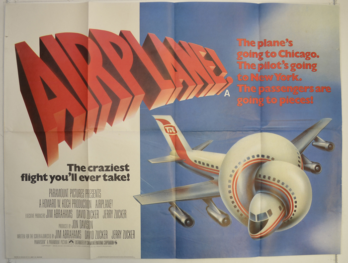 Airplane! [AKA Flying High] (1980, dir. Jim Abrahams, Jerry Zucker & David Zucker)