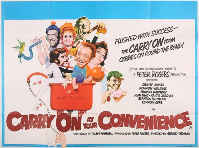 Carry On At Your Convenience [AKA Carry On Round The Bend] (1971, dir. Gerald Thomas)